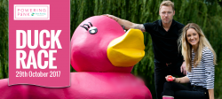 powering pink duck race