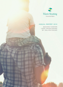 Marie Keating Foundation Annual Report front cover 2015