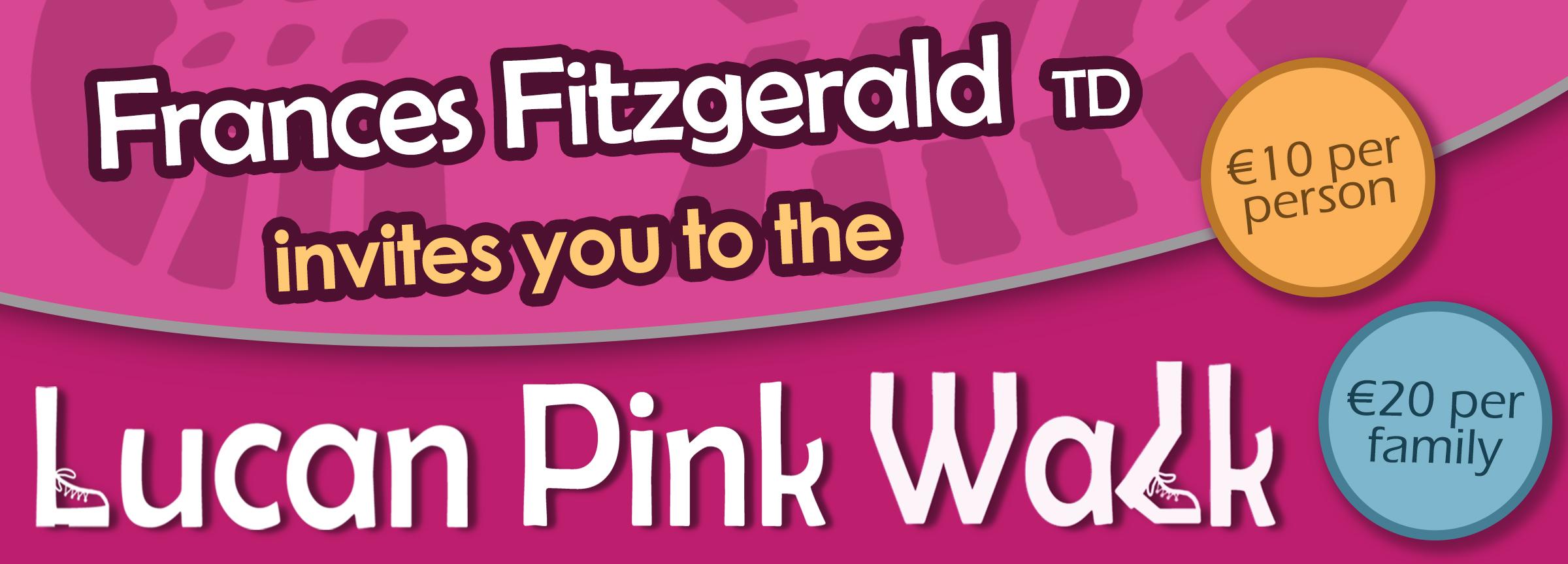 Minister Frances Fitzgerald Lucan Pink Walk