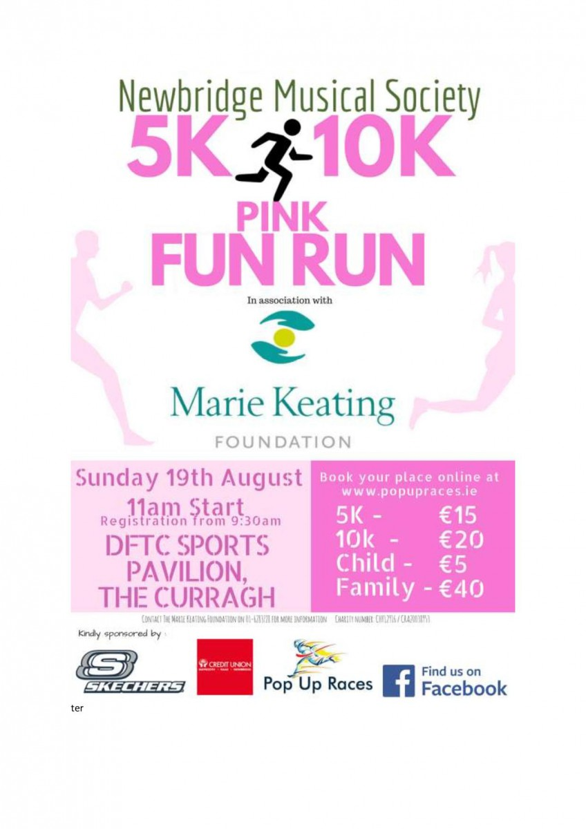 Newbridge Musical Society Pink Fun Run